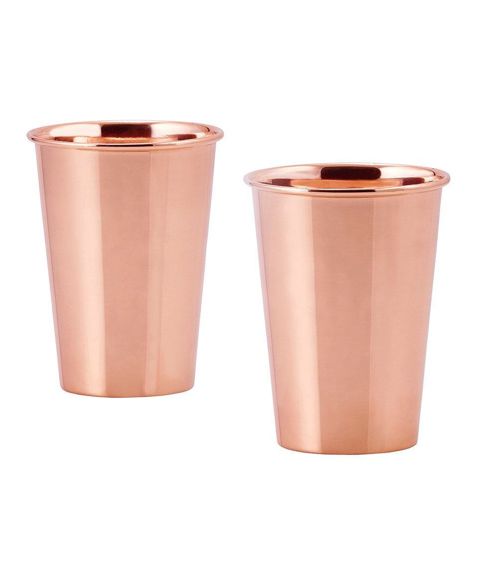 Love this Solid Copper 12-Oz. Flared Tumbler - Set of Two by Old Dutch International on #zulily! #zulilyfinds
