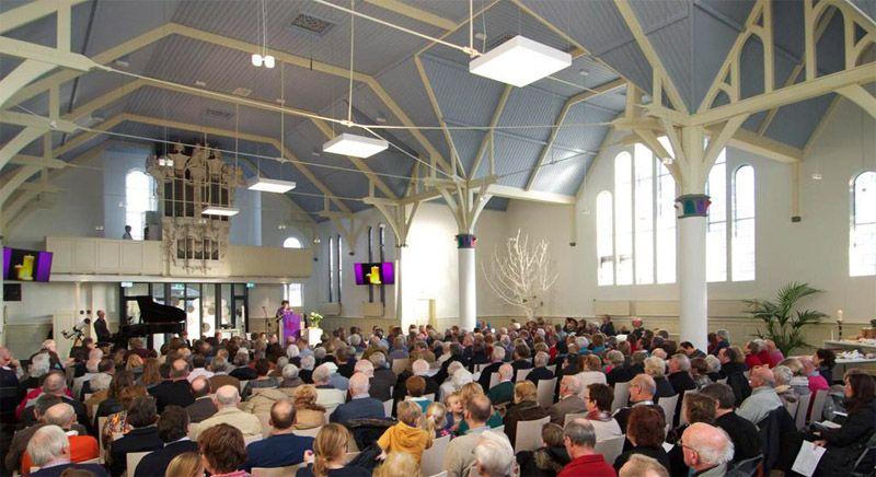 Verbouwde kerk (interieur) Buurtkerk Noordwijk | Projecten: Kerken ...