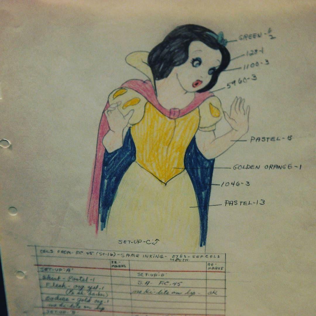Original concept #art and notes on @disney #snowwhite at @wdfmuseum in #SanFrancisco #waltagram