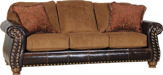 Brag Copper Fabric Dallas Antique Leather Sofa Collection