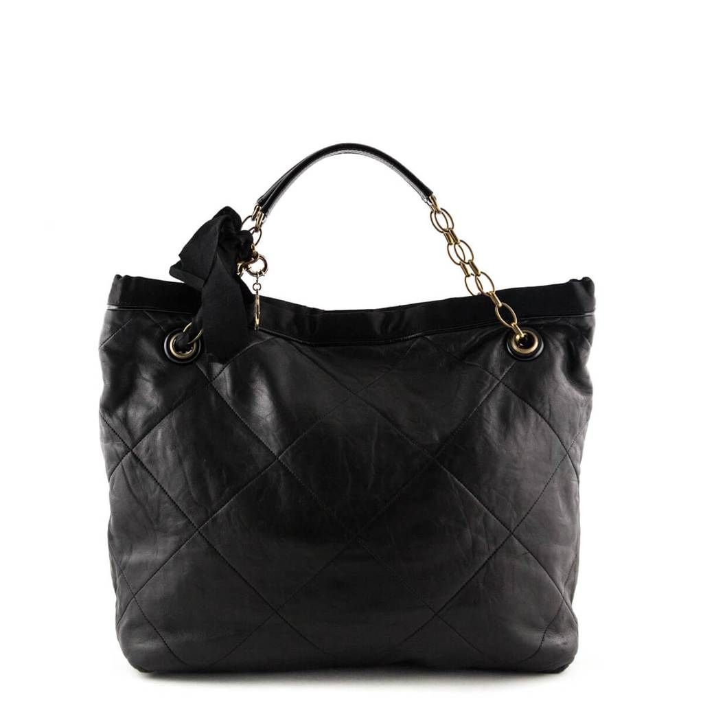 a5e81a971b3a Lanvin Black Quilted Amalia Cabas Tote - LOVE that BAG - Preowned Authentic  Designer Handbags -