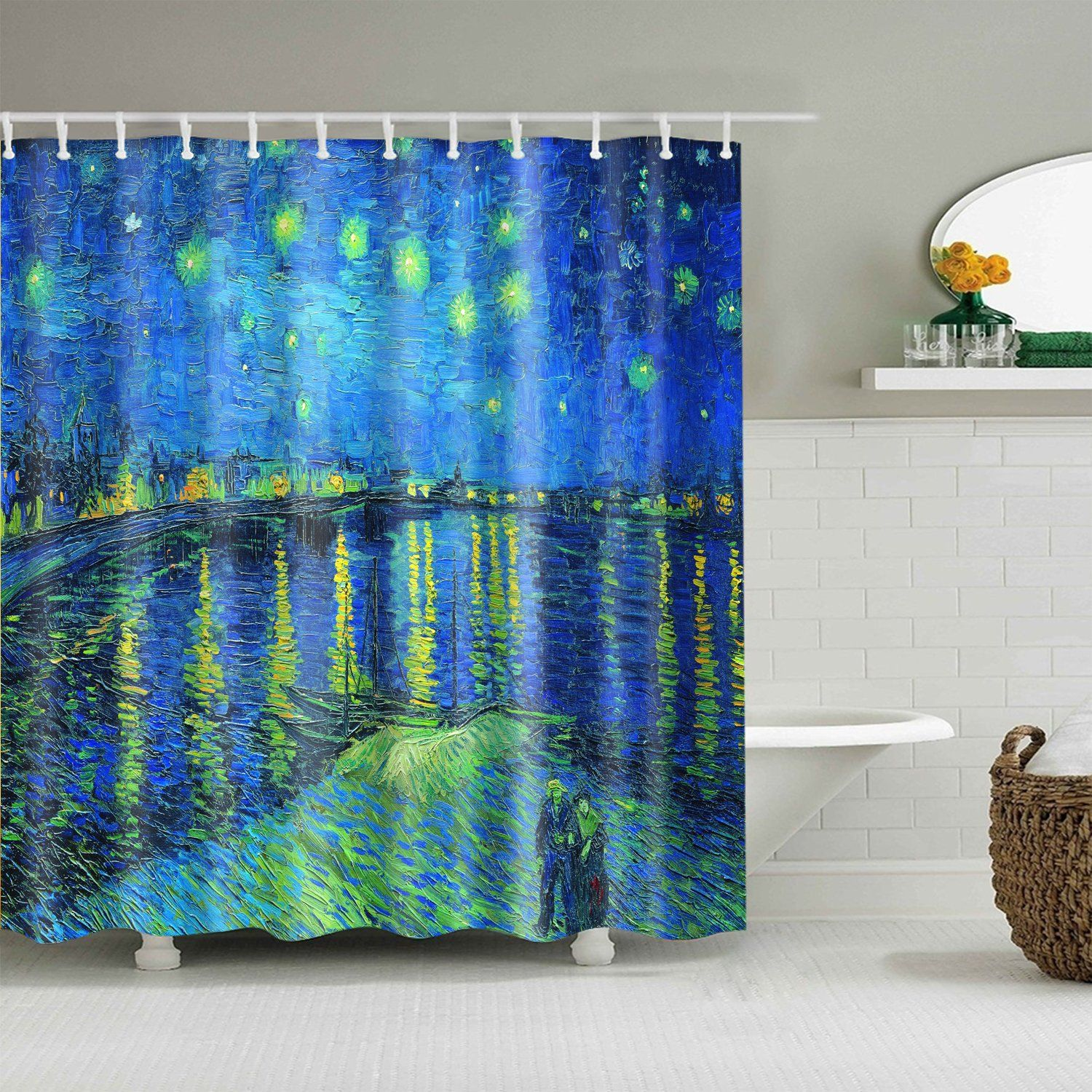 Starry Night Over The Rhone Vincent Van Gogh Shower Curtain