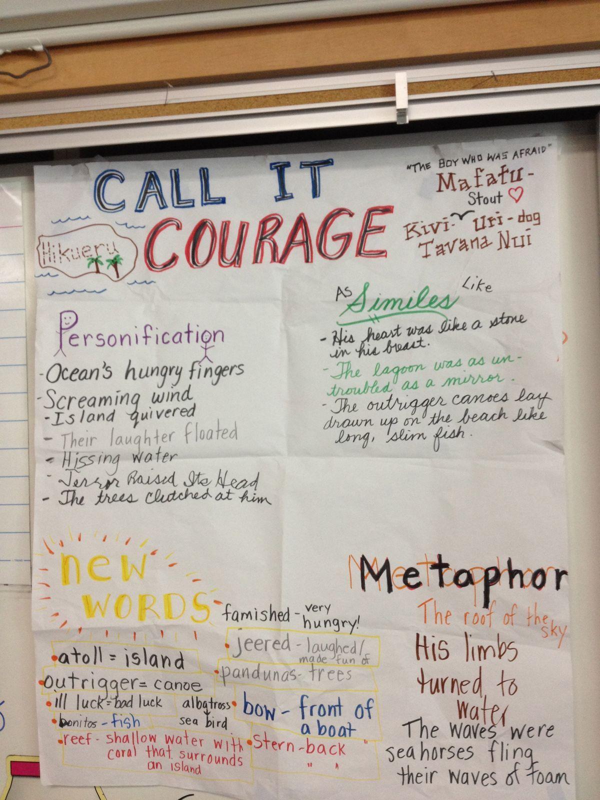 Call It Courage Novel Idea