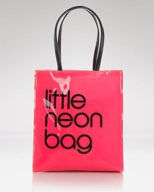 ae378ff95 Bloomingdale's Tote - Little Neon Bag by Bloomingdale's ~ I have the  little, medium, and large brown bag!