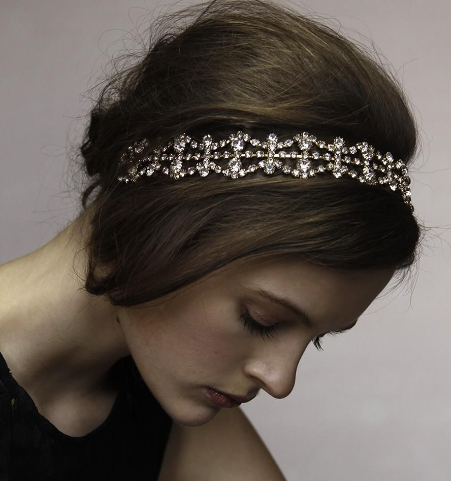 vintage rhinestone elastic wave hair band for women in 2019