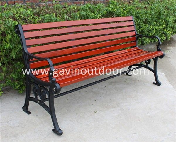 Newly Released Cast Iron Outdoor Furniture Outdoor Solid Wood Bench Cast  Iron Bench, View Cast