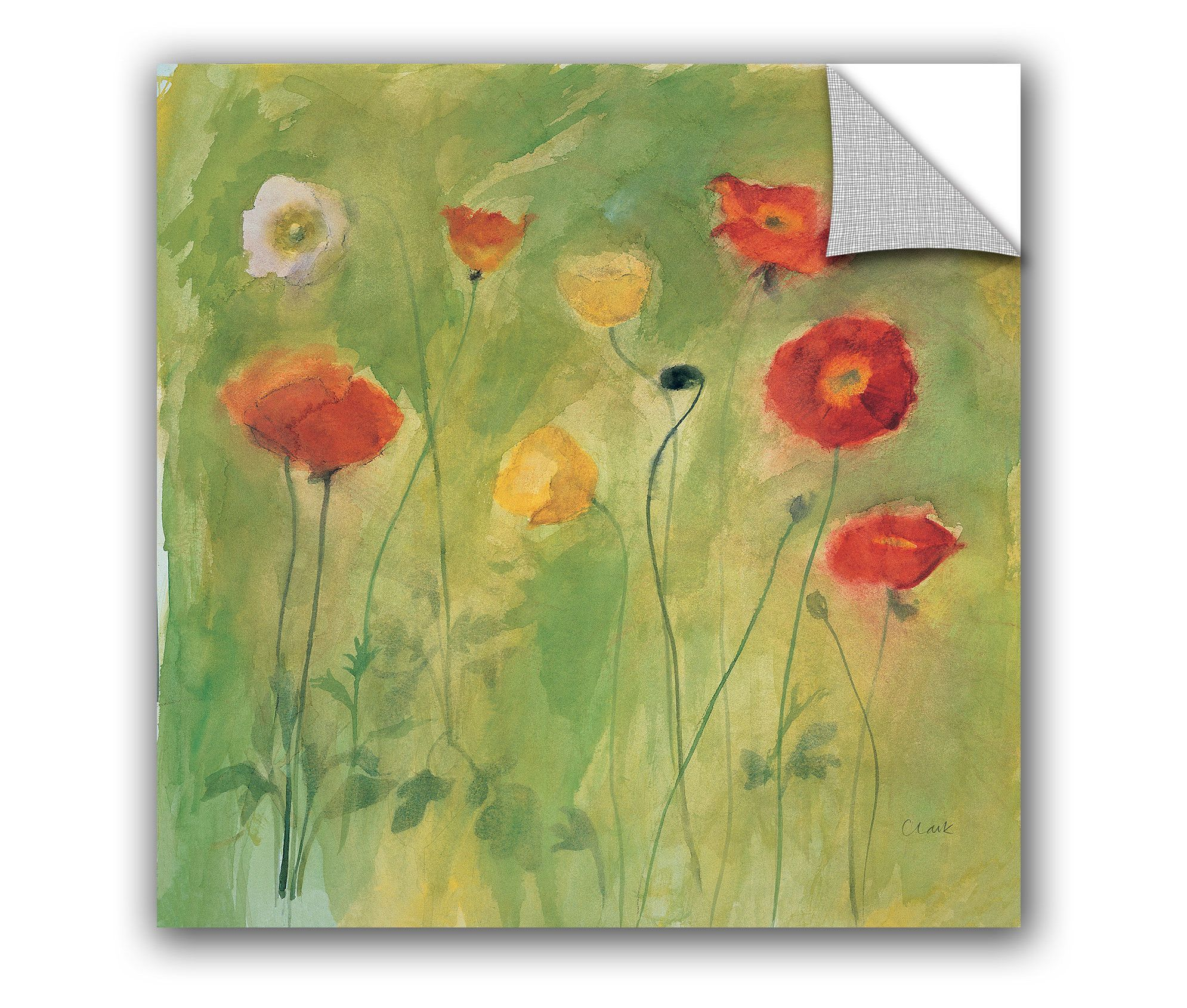 Michael Clark Poppies in Breeze Wall Mural | Wall murals, Breeze and ...