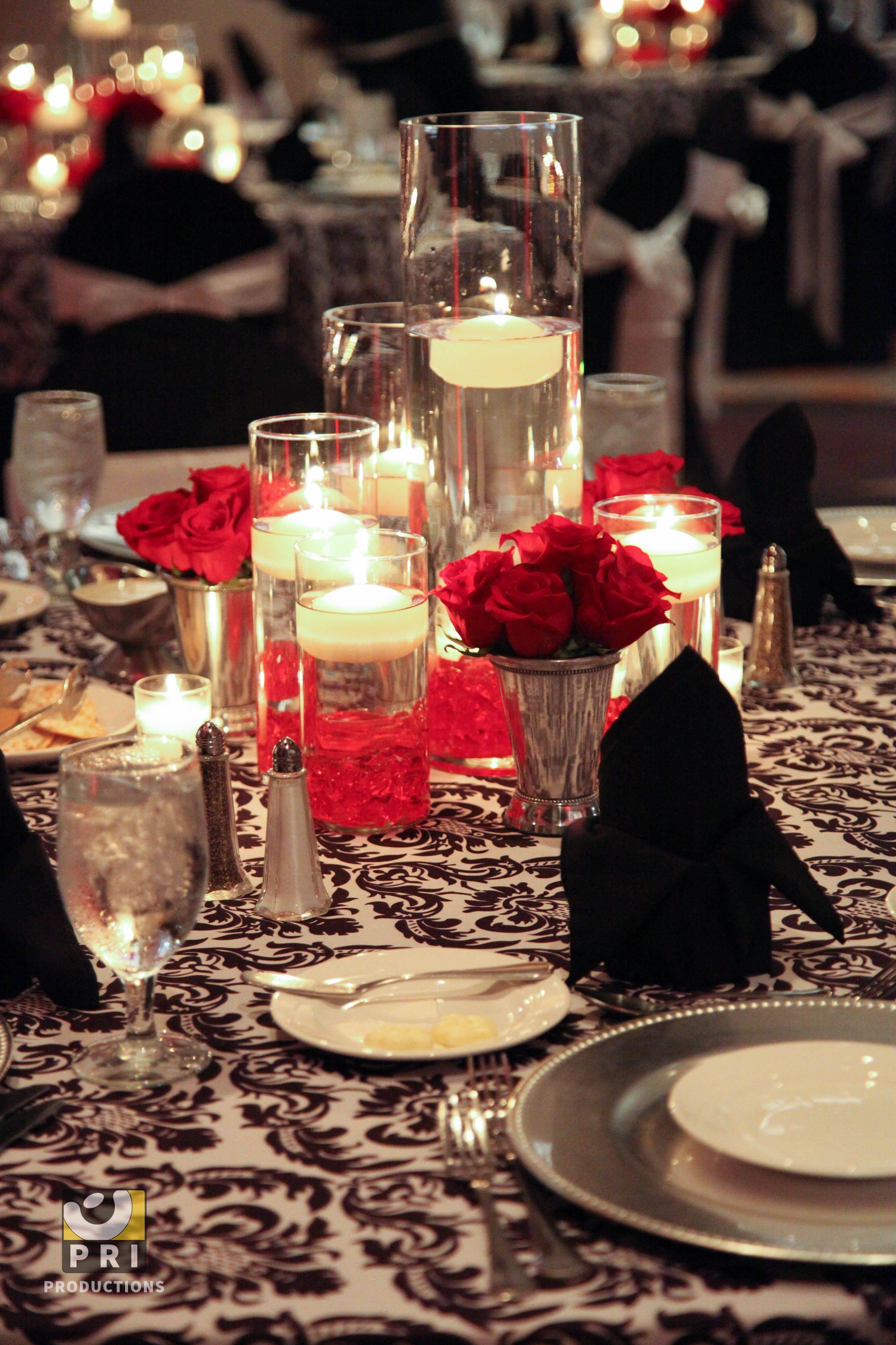 floating candle centerpieces for wedding reception ...
