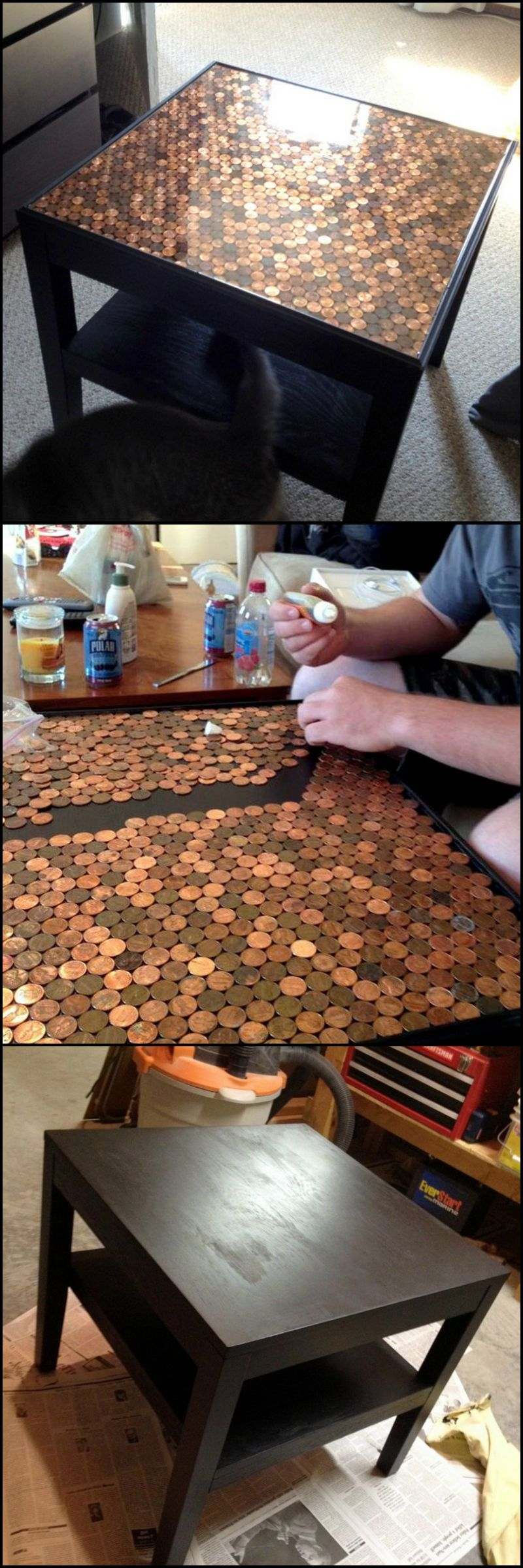 How To Build A Penny Top Coffee Table