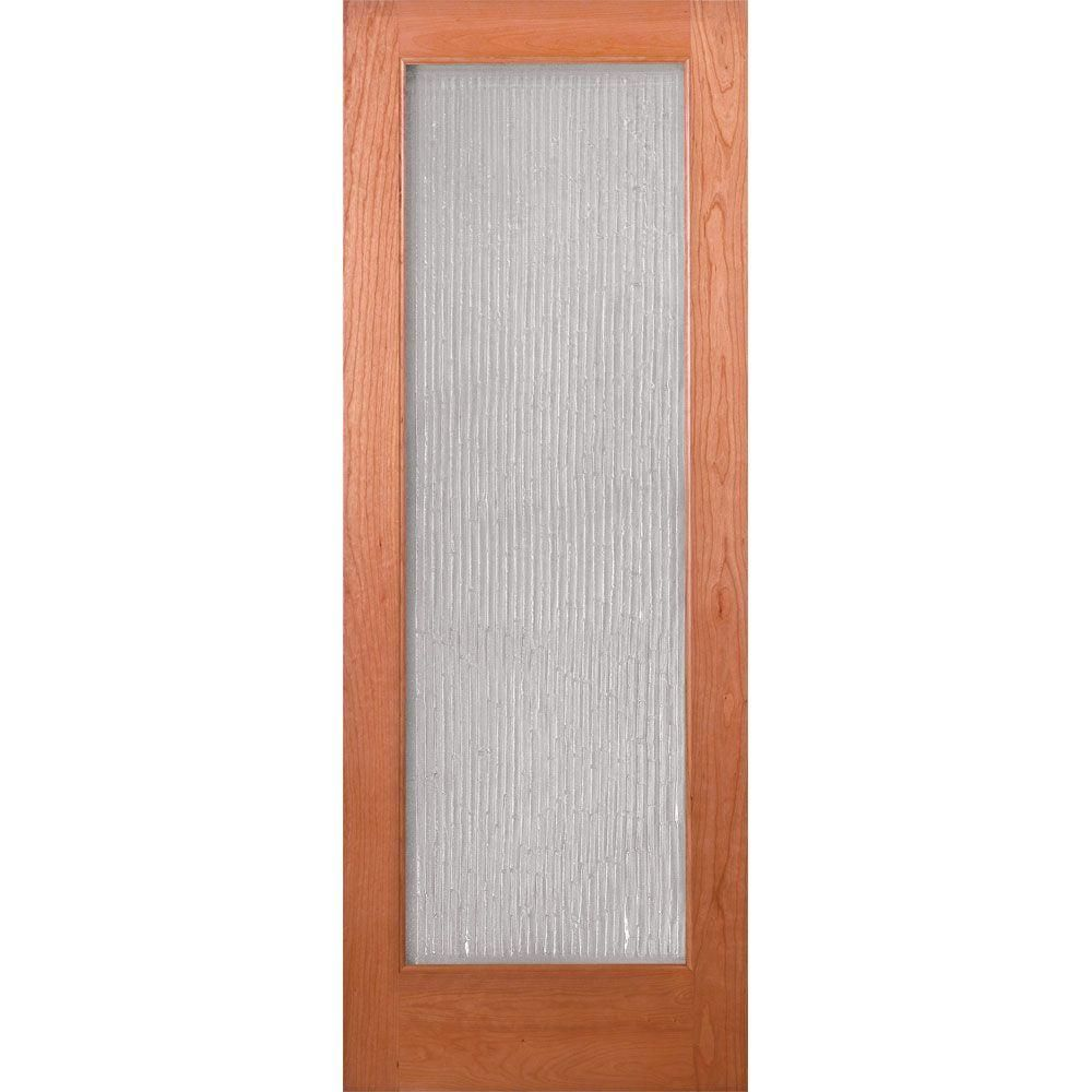 Feather River Doors 30 In X 80 In 1 Lite Unfinished Cherry Bamboo Casting Woodgrain Interior Door Slab Cn15012668g460 The Home Depot In 2020 Doors Interior Bamboo Design Interior