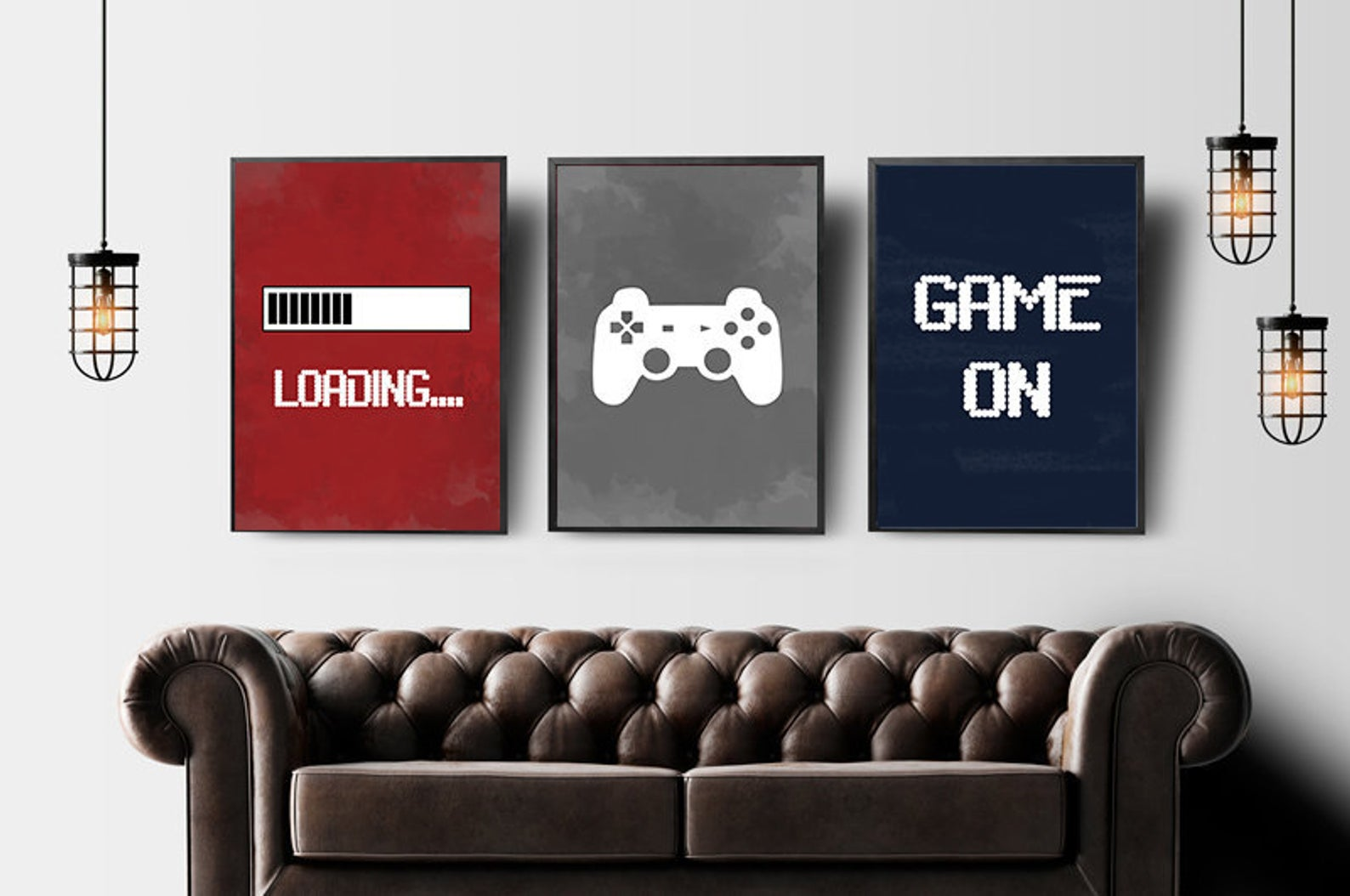 Video Game Wall Art Gaming Prints Set Gaming Wall Art Set Of 3