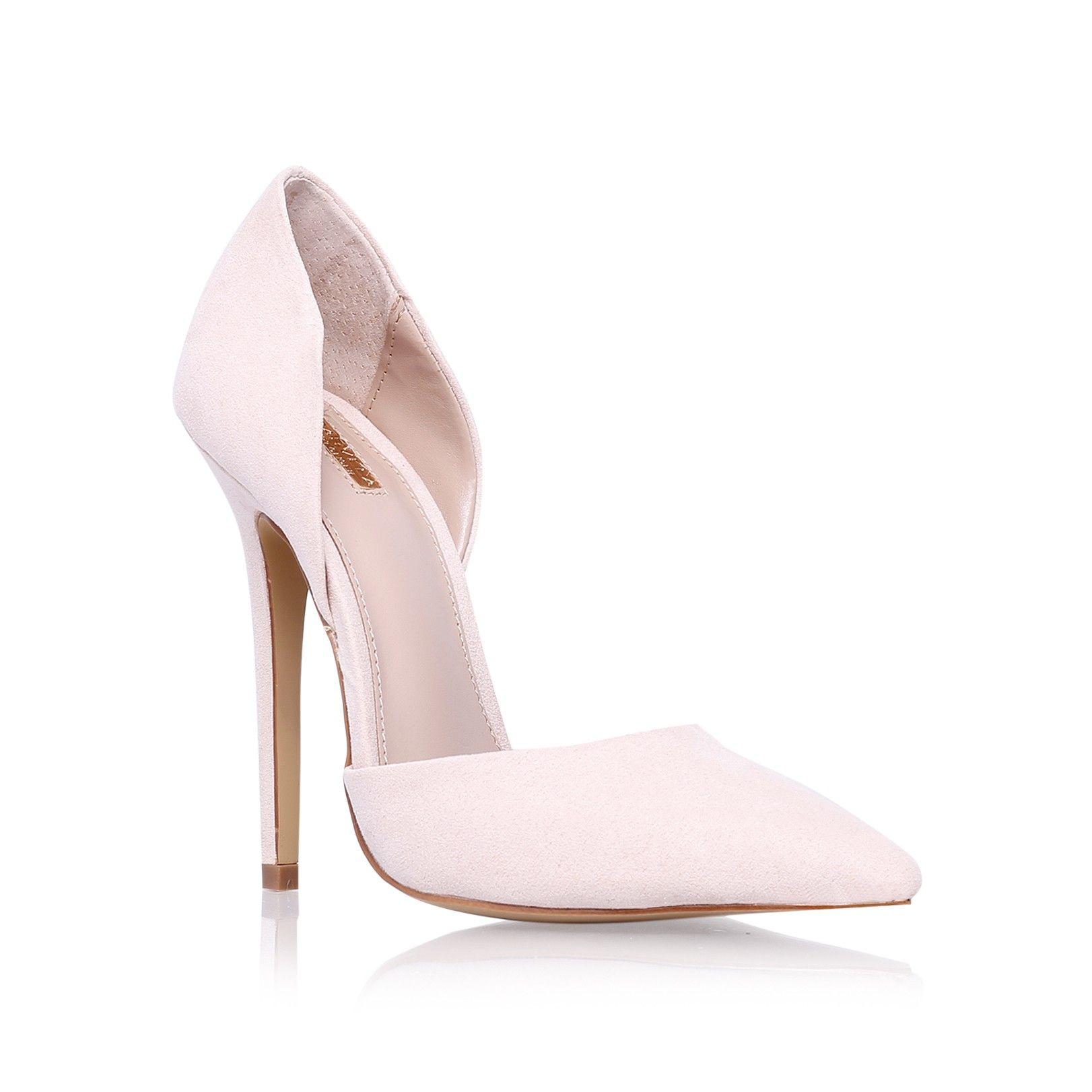 Nude High Heel Court Shoes