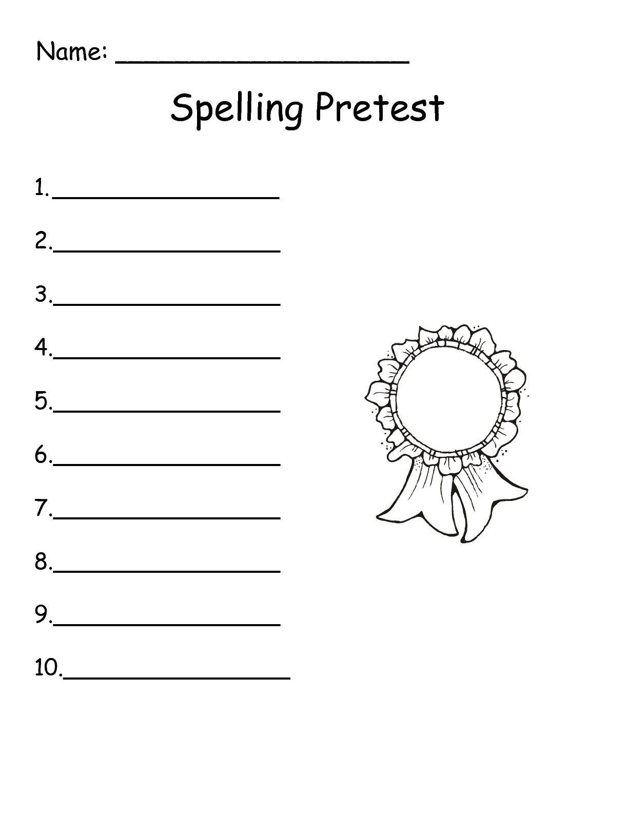 wonders 1st grade spelling test paper Wonders