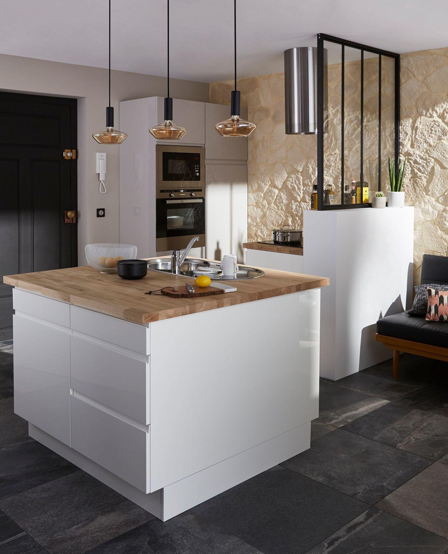 Epaisseur Caisson Cuisine Ikea cuisine ouverte : 15 modèles de cuisiniste | cuisine ouverte