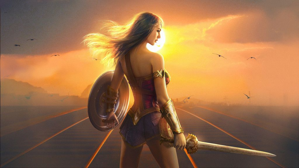 Wonder Woman Art Superhero Sword Sunset Wallpaper Wonder Woman Fan Art Wonder Woman Art Wonder Woman