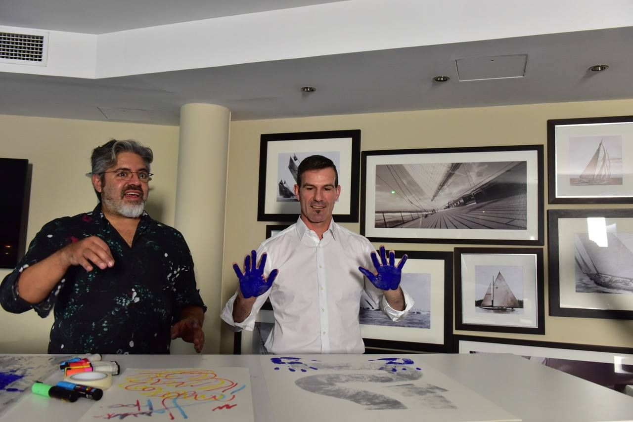 YannAntony Noghès e Lionel Noghès al 1° WSLA Handprints