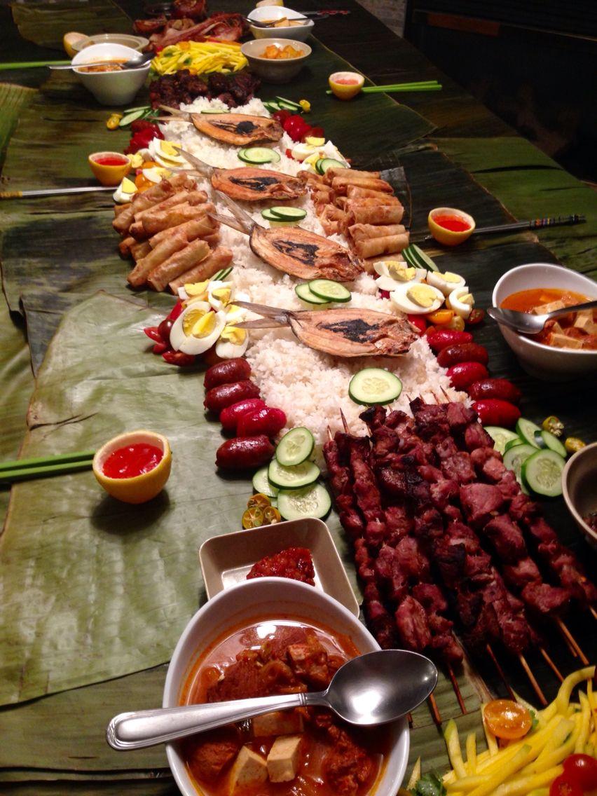 Boodle Fight Menu Filipino Vegetable Recipes Filipino