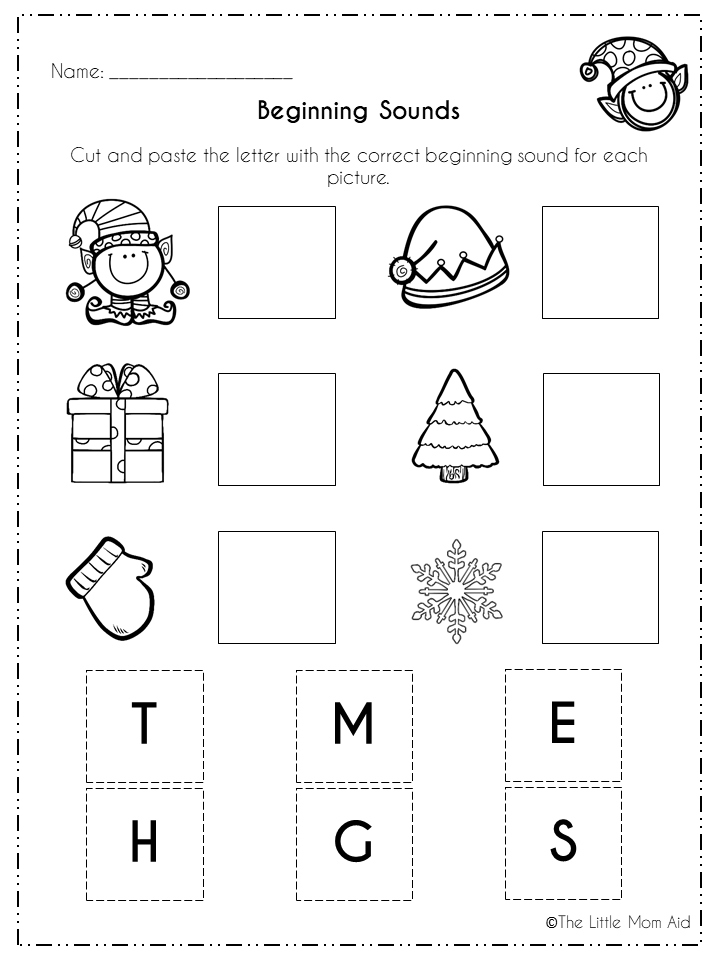 Winter Literacy Activities And Worksheets Morning Work Winter Literacy Activities Kindergarten Learning Activities Beginning Sounds Kindergarten