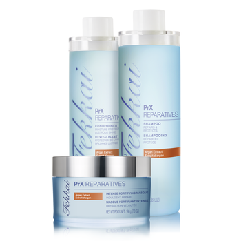 FEKKAI PRX REPARATIVES PRODUCT TRIO-argon extract, vanilla and creame scents; this stuff is amazing!