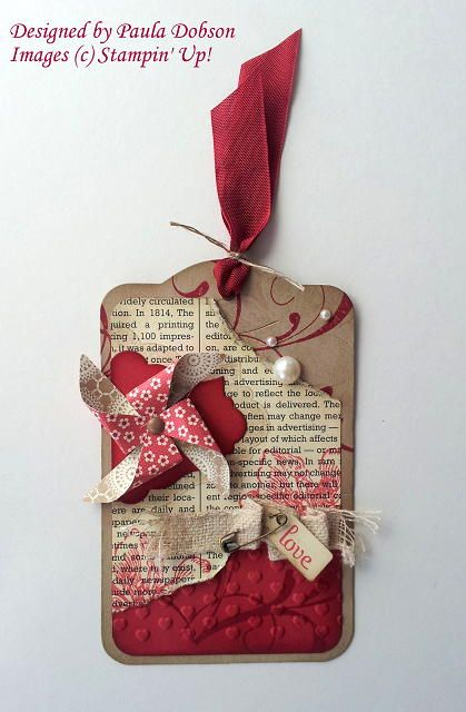 Stampin' Up! Gift Tag by Paula D at Stampinantics: EVERYTHING VALENTINE