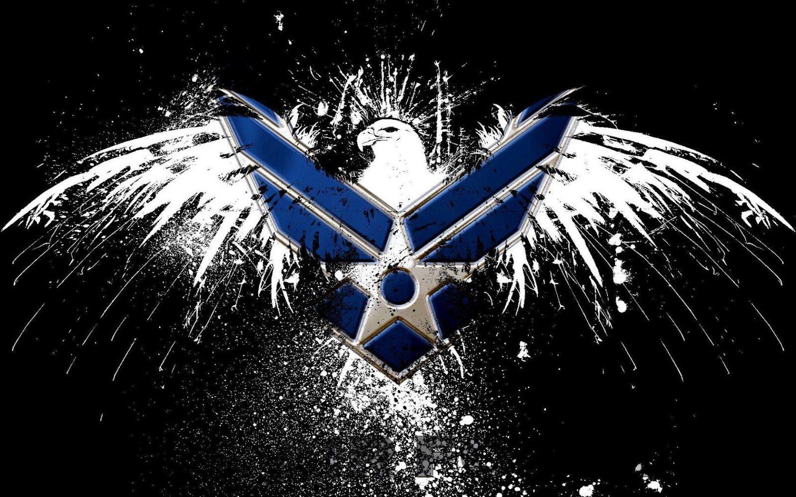 Air Force Logo HD Wallpaper Slwallpapers Patriotic
