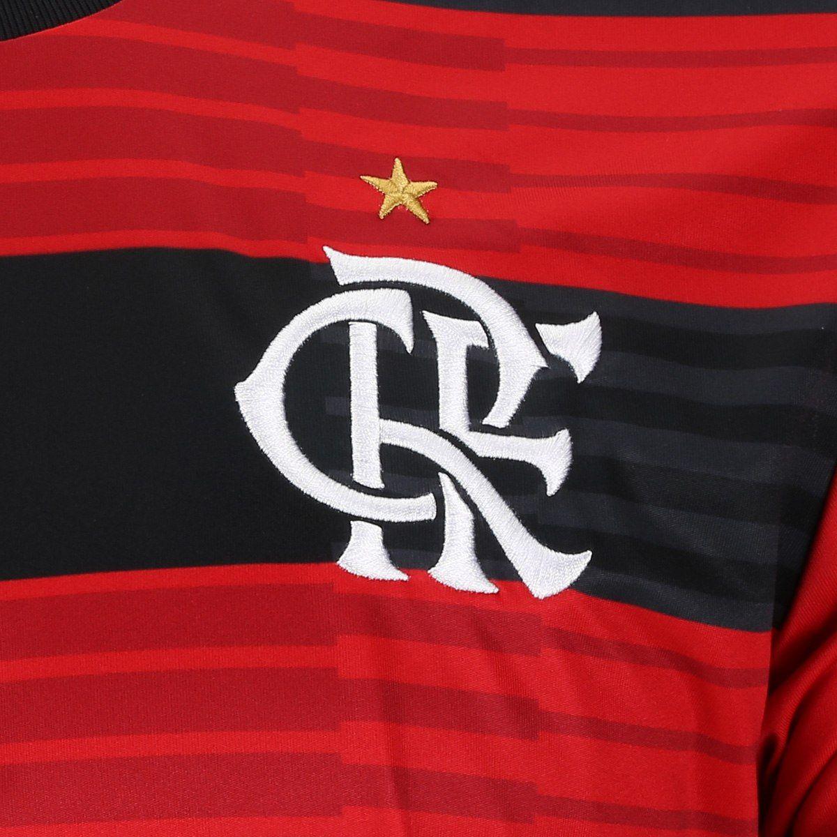 Camisa Flamengo I 2018 s n° Torcedor Adidas Masculina - Vermelho e Preto a9d788c4fb3