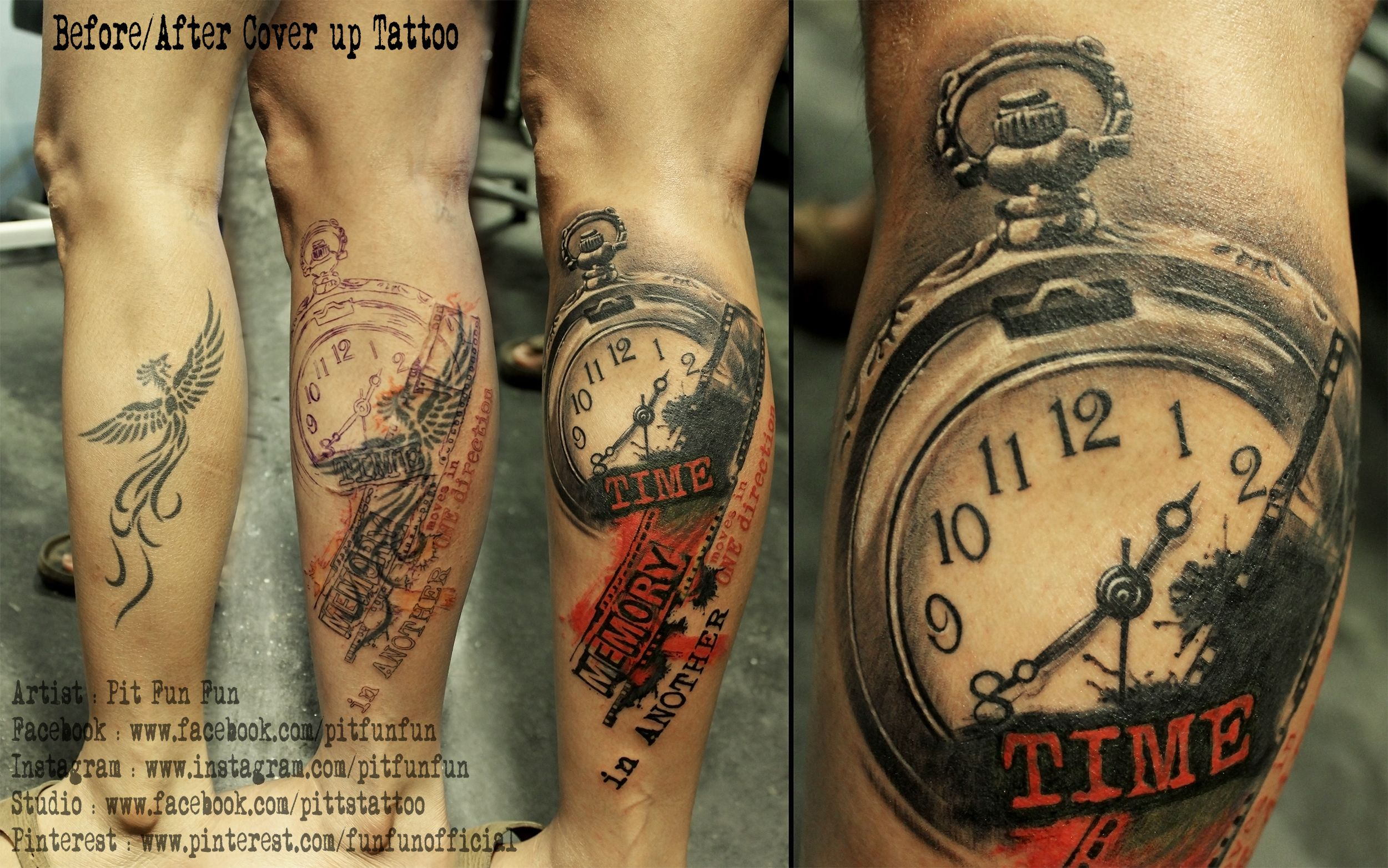Cover Up Tattoo Trash Polka Lower Leg   Dövmeler   Tattoo trash ...