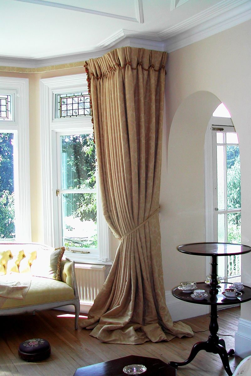 Buy Curtains With A Slightly Longer Length And Let Them