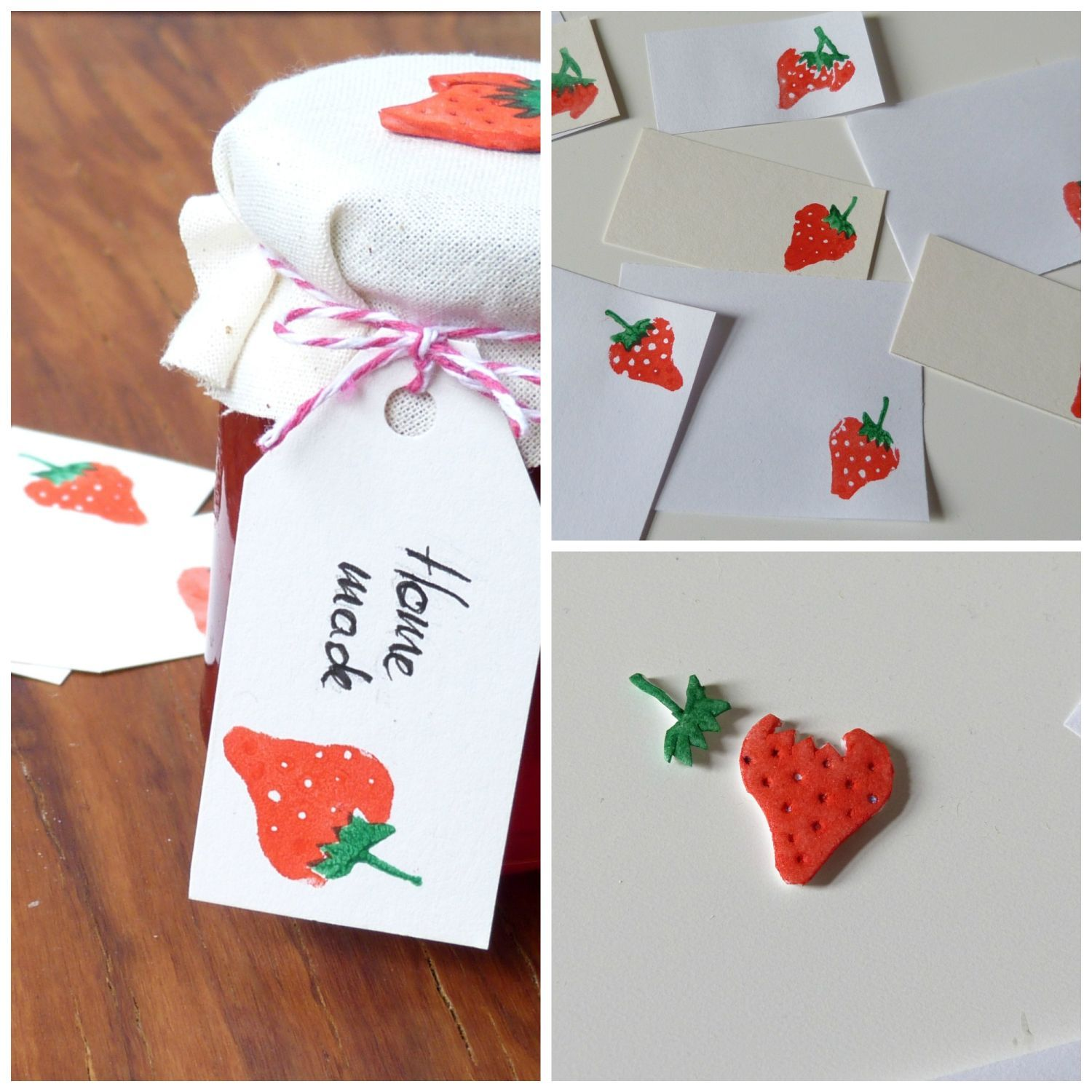 Endearing Stempel Selber Machen Decoration Of Erdbeer Moosgummi - Strawberry Print Diy