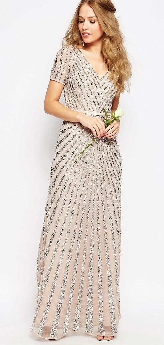 Gorgeous sequin maxi dress | Sequin bridesmaid dresses | Sequined ...
