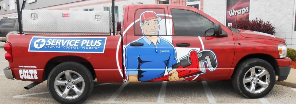Service Plus Truck By Dream Street Graphics Car Wrap Toy Car
