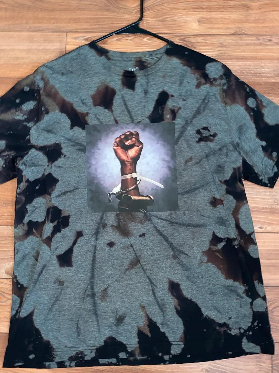Bleached Black Fist Tee Black Fist Tees Fashion [ 1200 x 900 Pixel ]