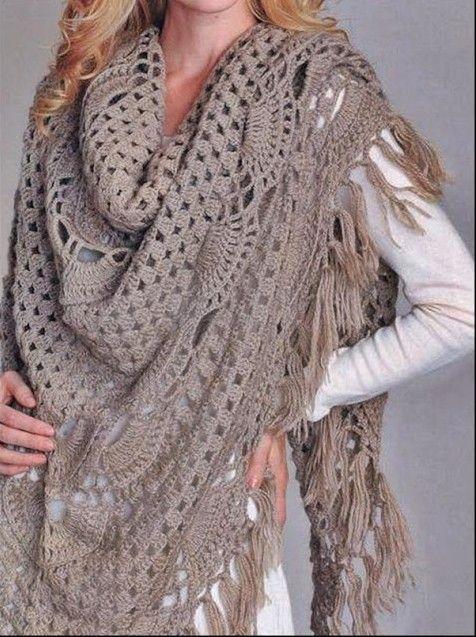 шаль платок крючком платки шали крючком схемы вязание крючком