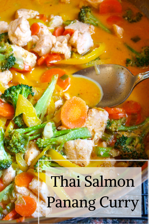 Thai Salmon Panang Curry Enjoy delicious Thai food on your own dinner table with this quick and easy Thai Salmon Panang Curry.