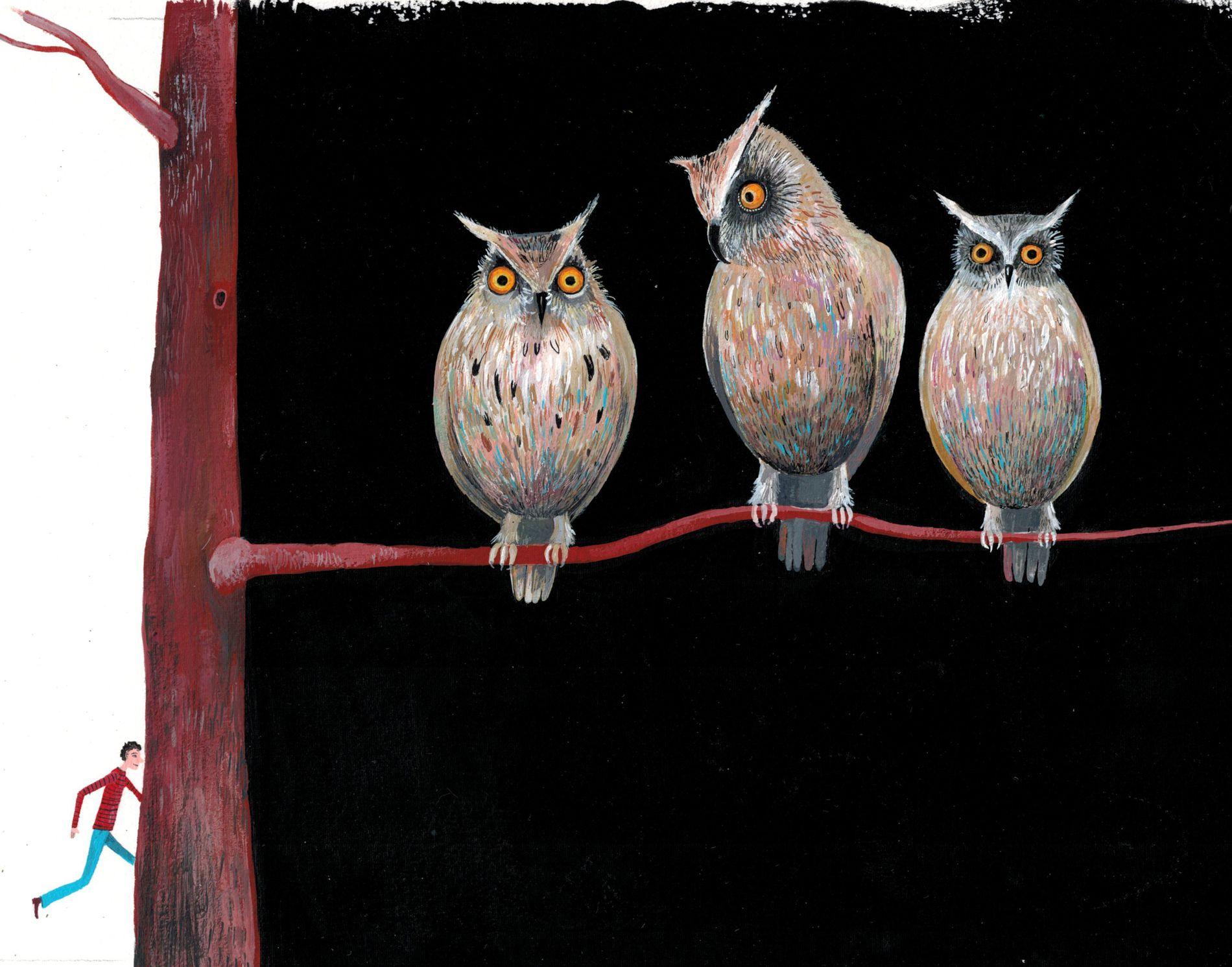 Sacha Poliakova - Les hiboux | Oeuvres | Galerie Robillard