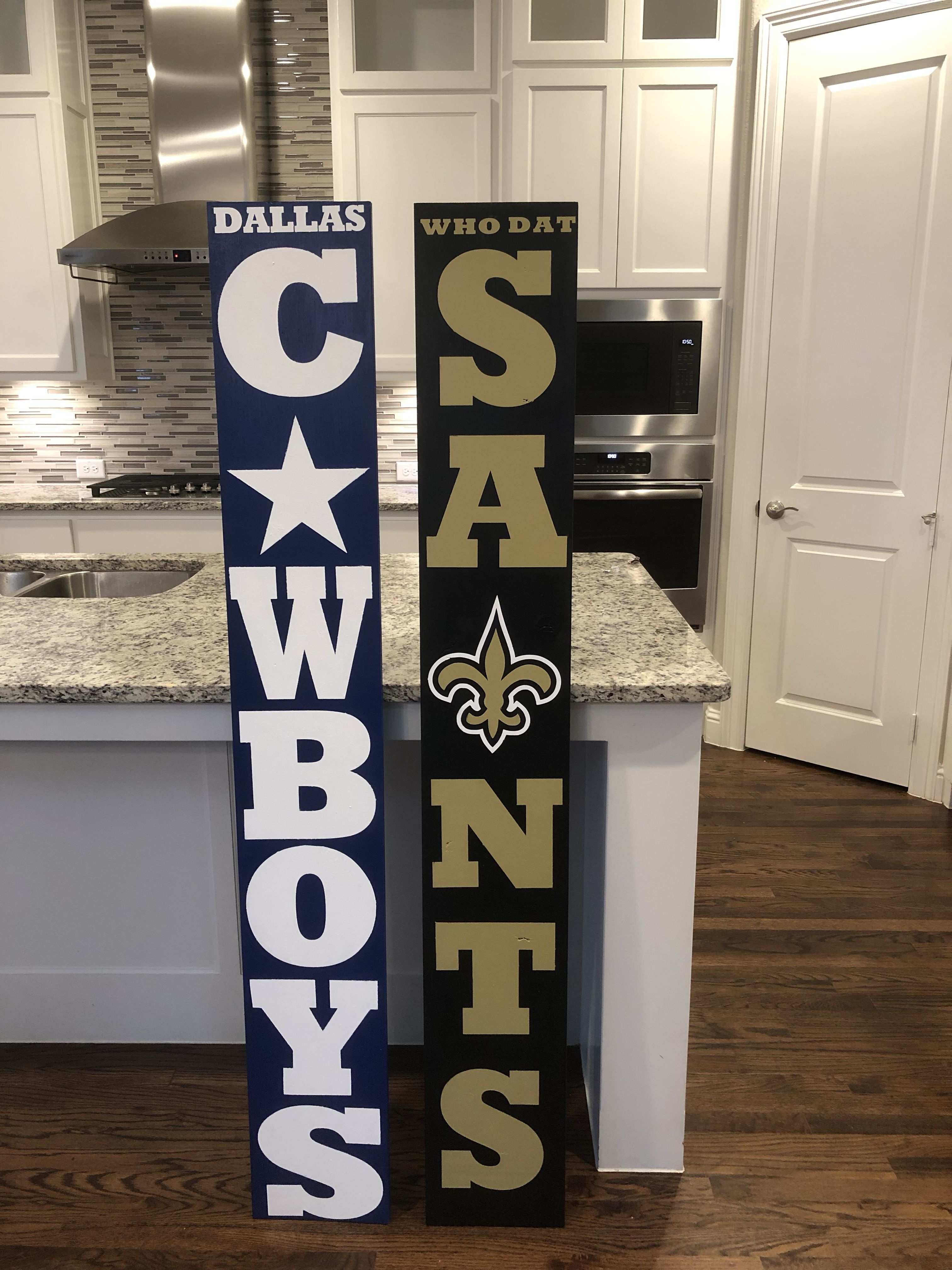Saints Cowboys Wooden Signs Diy Crafts To Make And Sell Crafts To Make