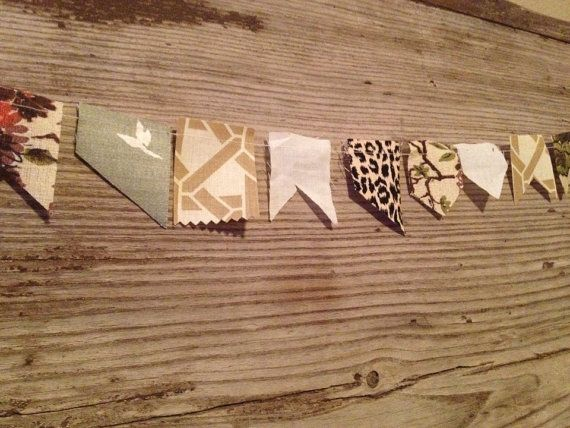 The Miniature Scrappy Bunting - Cream  on Etsy, $14.00