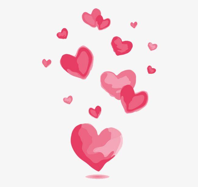 Download Watercolor Pink Love Vector Material, Love, Pink ...