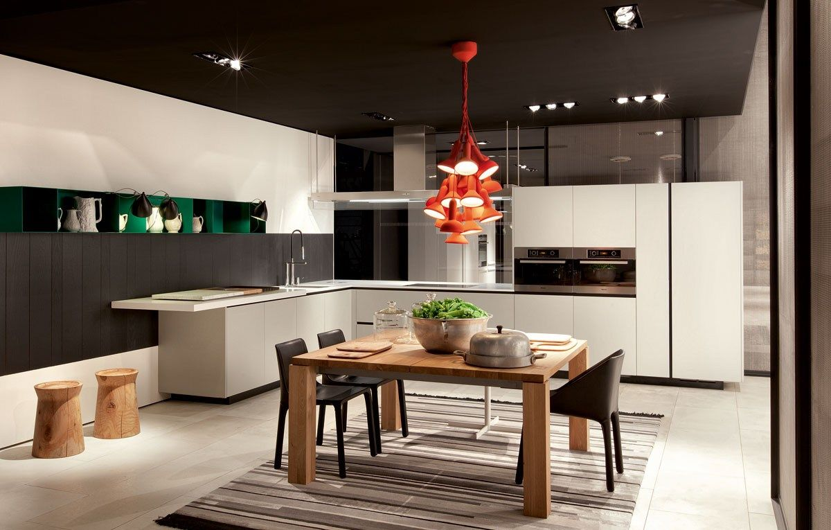 Another look at the same kitchen LACQUERED WOODEN KITCHEN ALEA BY ...
