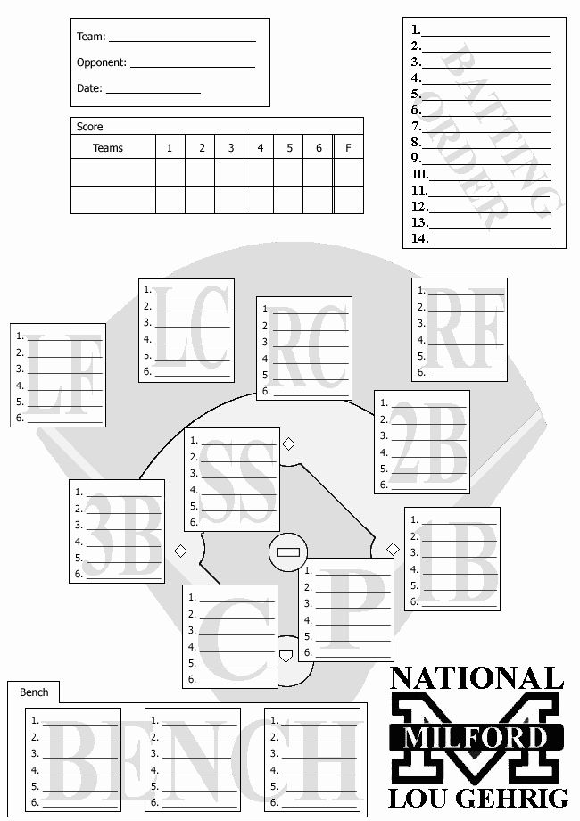Blank Baseball Card Template Elegant Lineup Card 4
