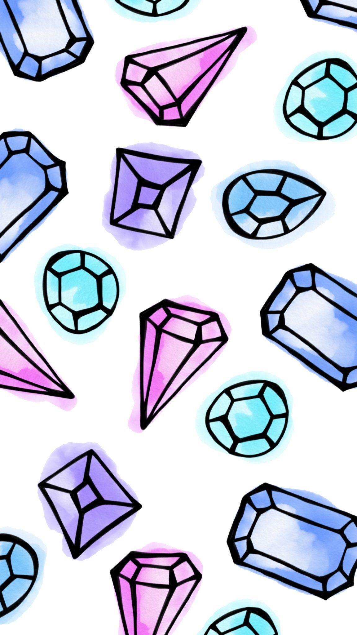 What a Gem (With images) Diamond wallpaper iphone, Cool