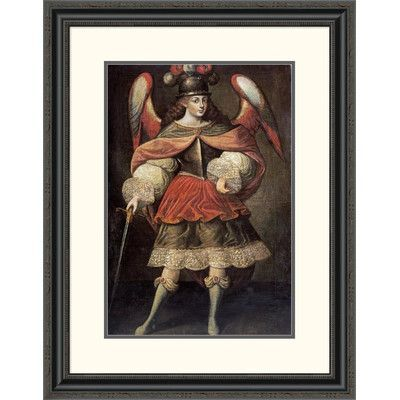 """Global Gallery 'Archangel Miguel' Framed Painting Print Size: 32"""" H x 25"""" W x 1.5"""" D"""