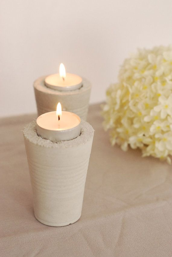 Contemporary set of 2 tealight candle holders made by alexhomeware, €15.00