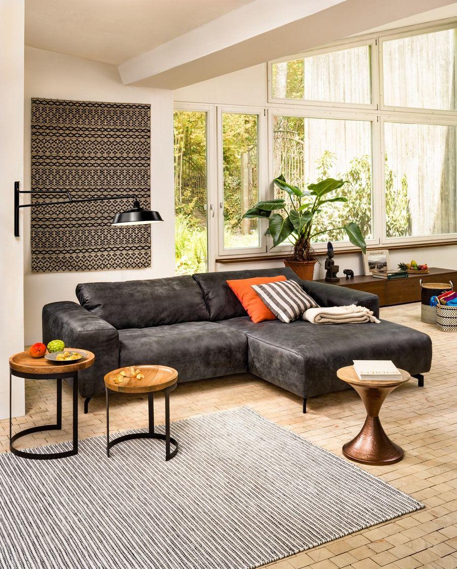 micasa wohnzimmer mit ecksofa nolte und beistelltisch alis micasa wohnen pinterest ecksofa. Black Bedroom Furniture Sets. Home Design Ideas