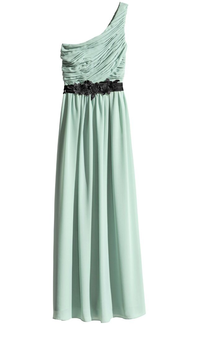 6177f1b2d5623 HM mint one shoulder maxi dress