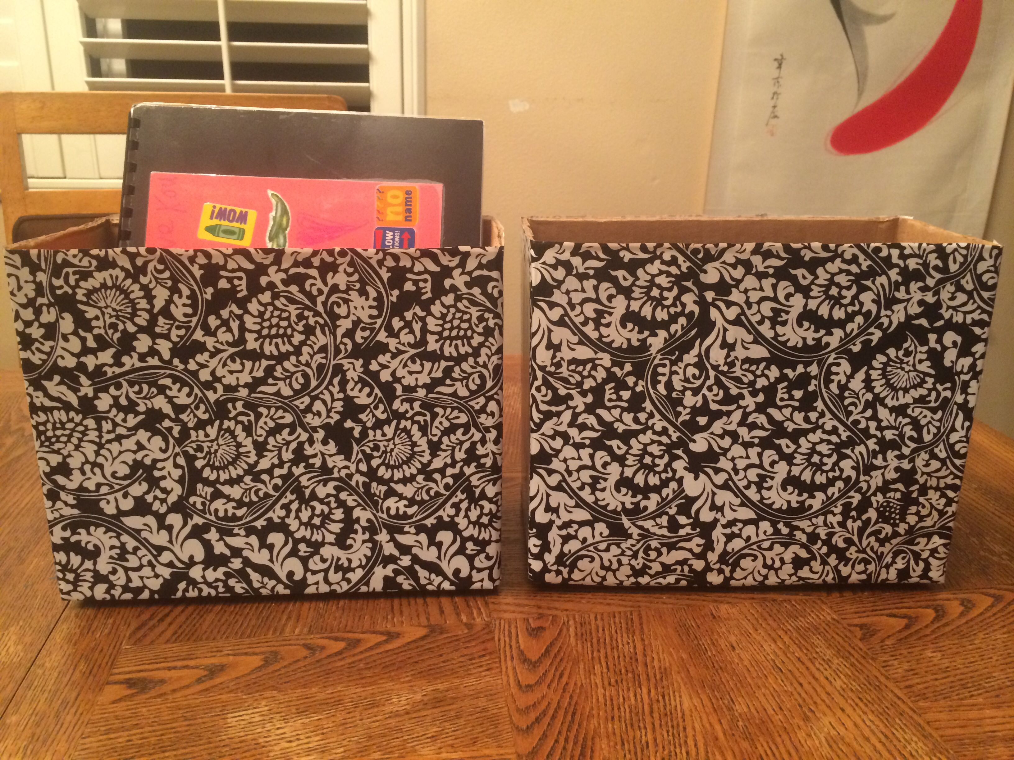 Cardboard Magazine Holders Cardboard Magazine Holders In Contact Paper Good For Speech Folders