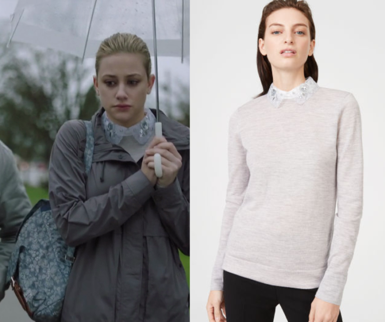 Riverdale Season 2 Episode 13 Betty S Grey Collared Sweater Shop