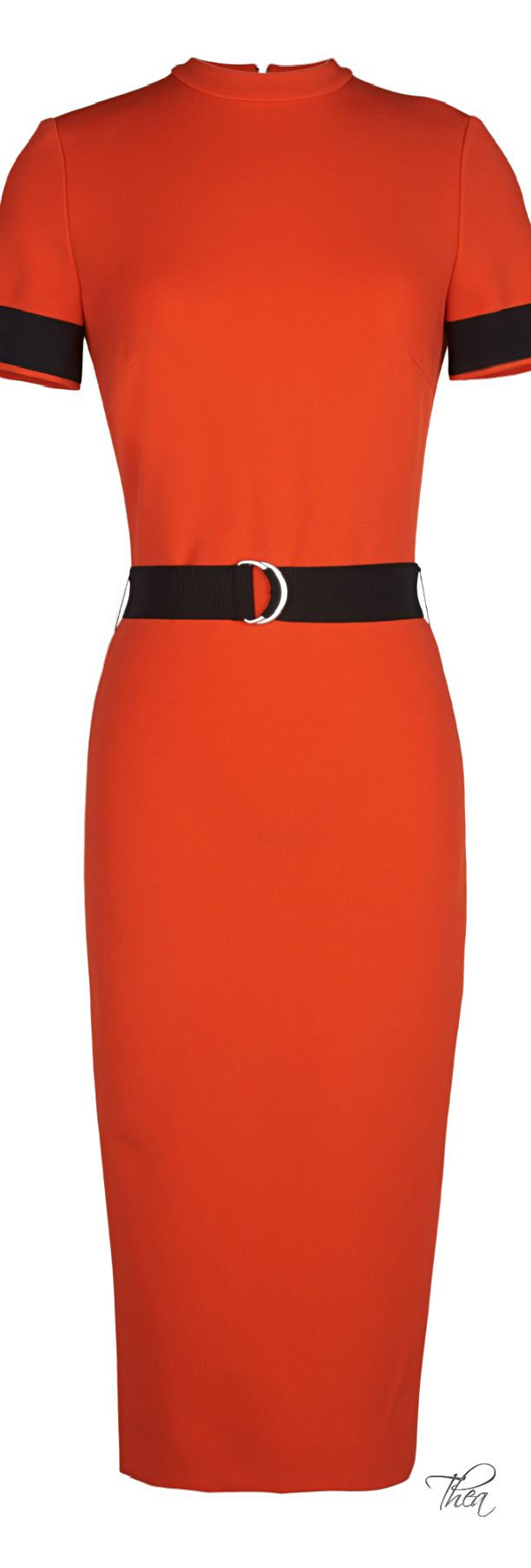 MUGLER ● Resort 2015, Milano Neon Orange Dress