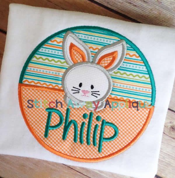 Easter Bunny Circle Patch