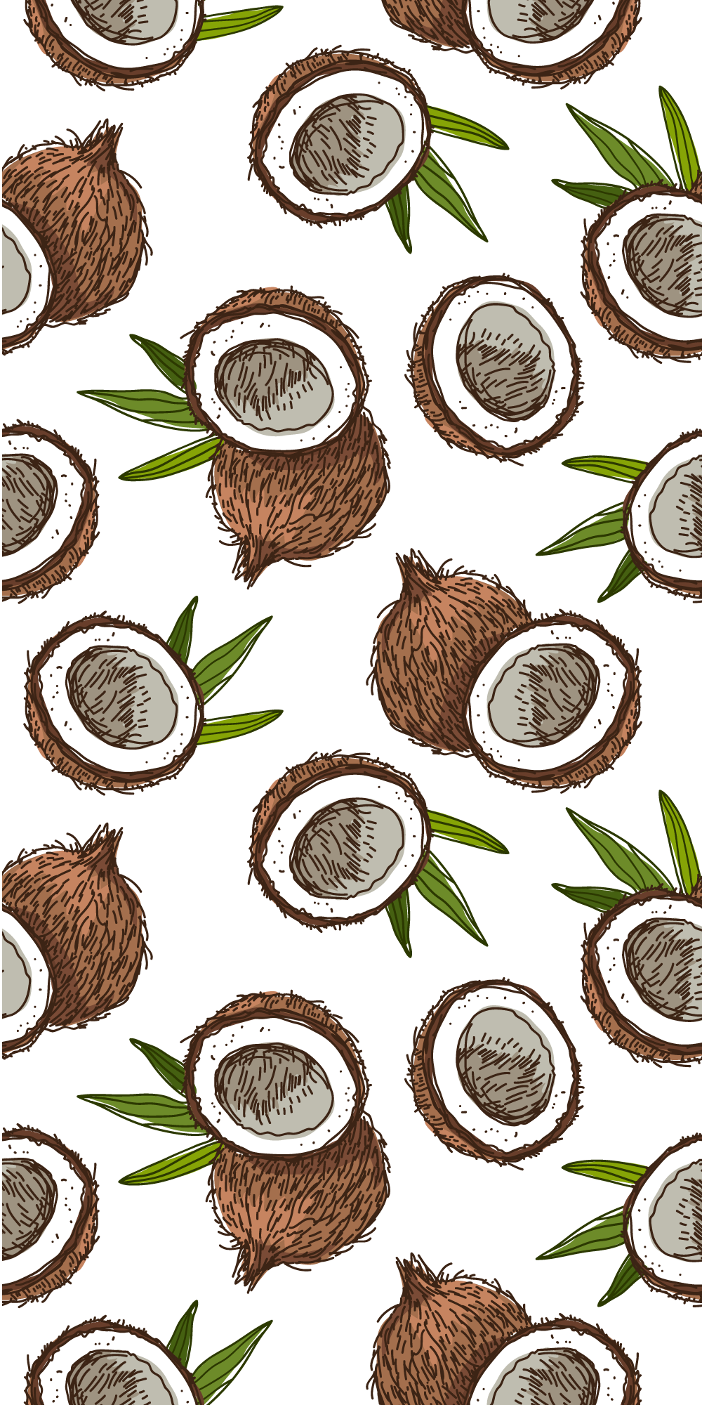 #Coconuts for if you're feeling #tropical. #Casetify #iPhone #Art #Design #Fruit #Illustration